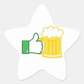 Como la cerveza pegatina en forma de estrella