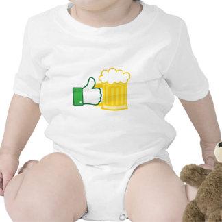 Como la cerveza traje de bebé