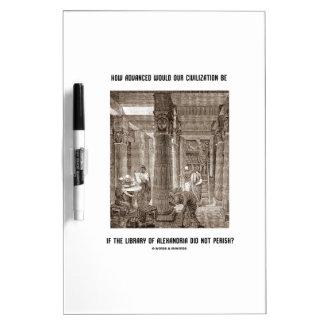 Cómo la civilización avanzada sea si biblioteca tablero blanco