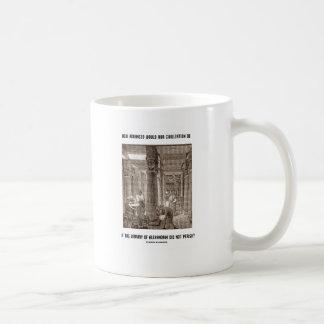 Cómo la civilización avanzada sea si biblioteca tazas de café