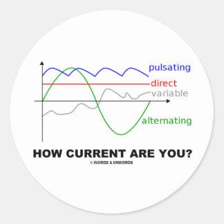 ¿Cómo la corriente es usted? (la diversa física de Pegatina Redonda
