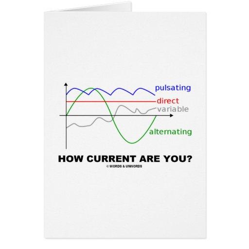 ¿Cómo la corriente es usted? (la diversa física de Tarjeta De Felicitación