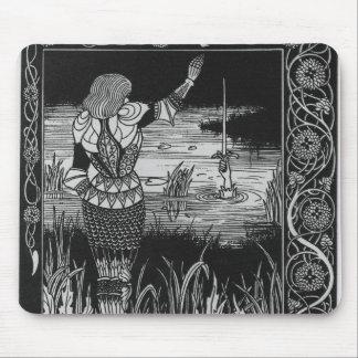Cómo la espada Excalibur de sir Bedivere Cast Tapetes De Raton