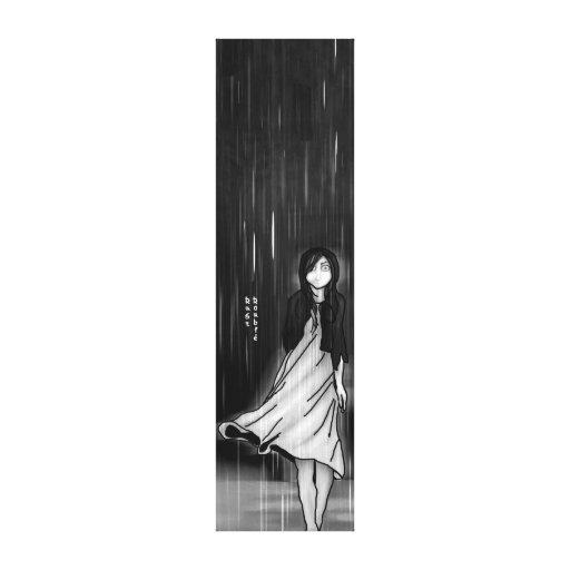 … como la lluvia cayó en mí impresión en lienzo estirada