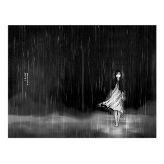 … como la lluvia cayó en mí tarjeta postal