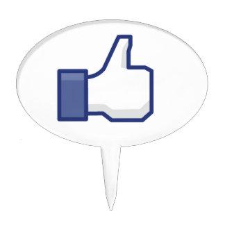 Como la mano - pulgares del FB para arriba Decoraciones De Tartas