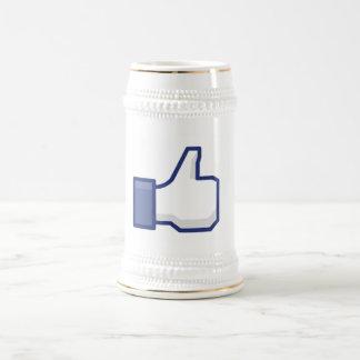 Como la mano - pulgares del FB para arriba Taza