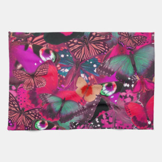 Como la mantequilla, modelo de mariposa del rosa i toalla