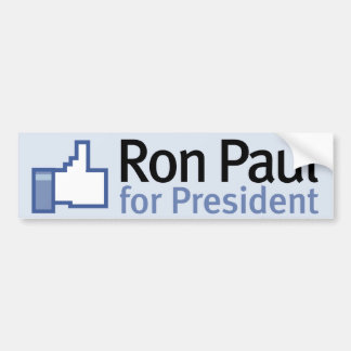 Como la pegatina para el parachoques de Ron Paul Pegatina De Parachoque