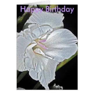 como la seda salvaje, feliz cumpleaños tarjeta de felicitación