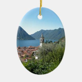 Como Lake Ceramic Ornament