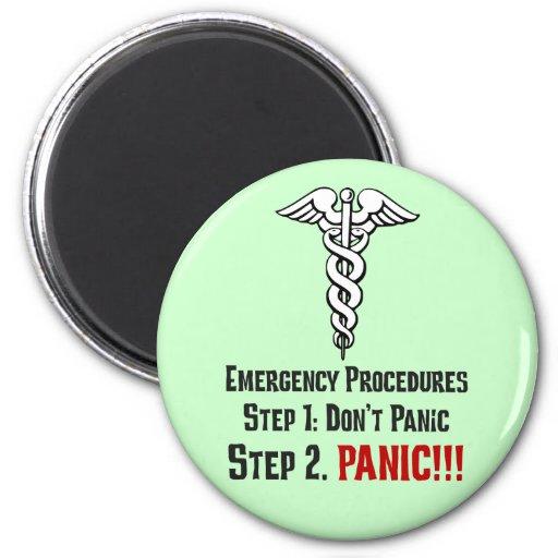 Cómo las enfermeras responden a su emergencia imán redondo 5 cm