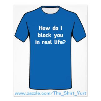 """¿Cómo le bloqueo en vida real? Folleto 4.5"""" X 5.6"""""""