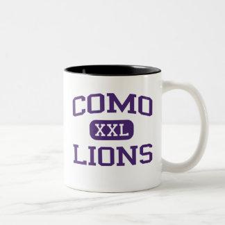 Como - Lions - Como High School - Fort Worth Texas Two-Tone Coffee Mug