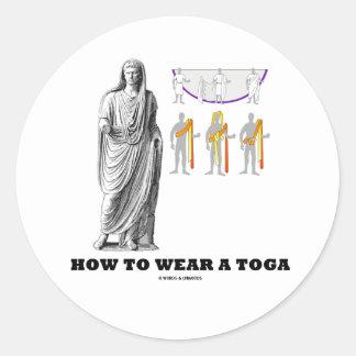 Cómo llevar una toga instrucciones de la ropa pegatinas redondas