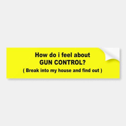 Cómo lo hago sienta sobre el control de armas pegatina para auto