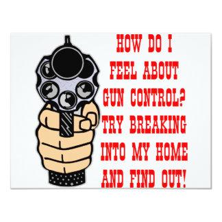 """Cómo lo hago sienta sobre el control de armas invitación 4.25"""" x 5.5"""""""