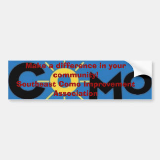 como logo, Make a difference in your community!... Bumper Sticker