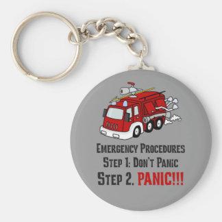 Cómo los bomberos responden a su emergencia llavero redondo tipo pin