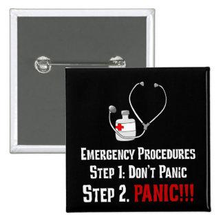 Cómo los doctores Respond a su emergencia Pin Cuadrado