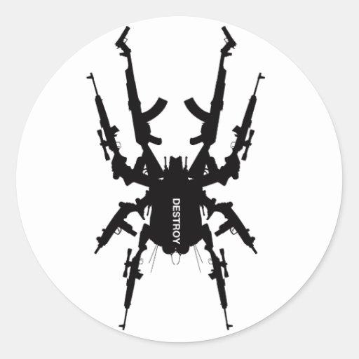 Como los insectos 1 etiquetas redondas