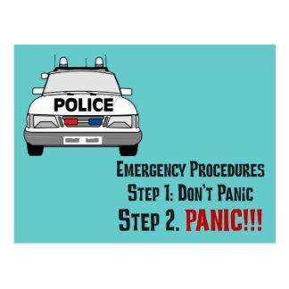 Cómo los oficiales de policía responden a su postales