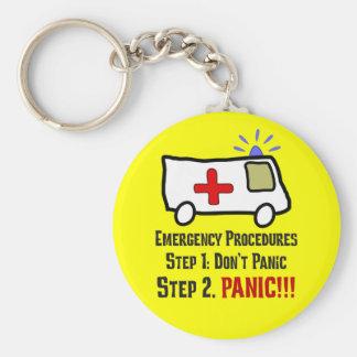Cómo los paramédicos responden a su emergencia llavero redondo tipo pin