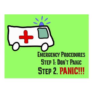 Cómo los paramédicos responden a su emergencia tarjetas postales