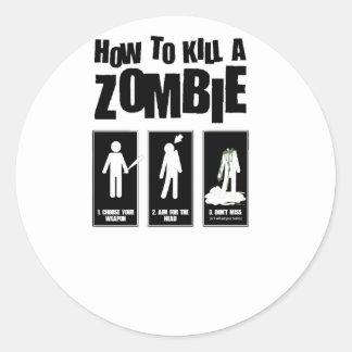 Cómo matar a un ZOMBI Pegatinas Redondas