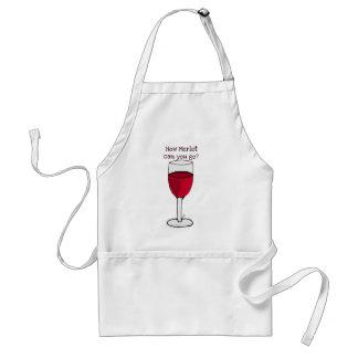 ¿CÓMO MERLOT PUEDE USTED IR? impresión del vino de Delantal