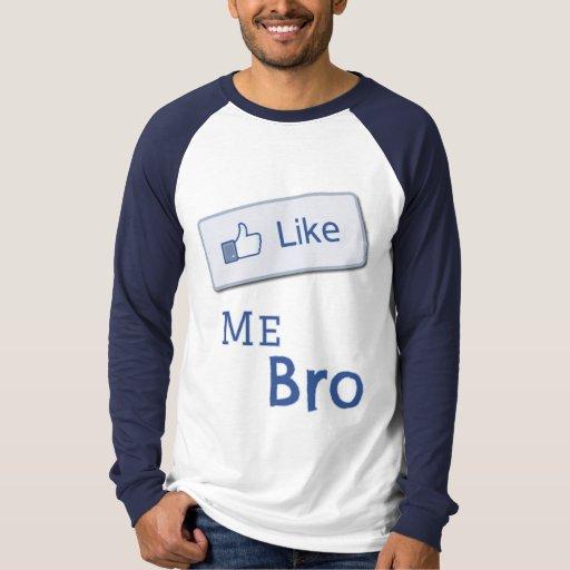 Como mí camisa del botón de Bro