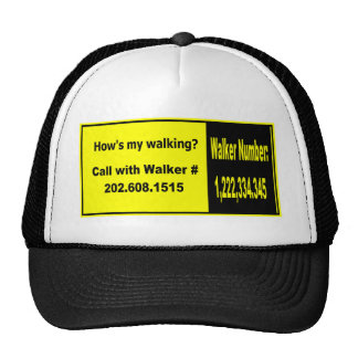¿Cómo mi está caminando? Gorra