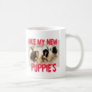 como mis nuevos perritos taza