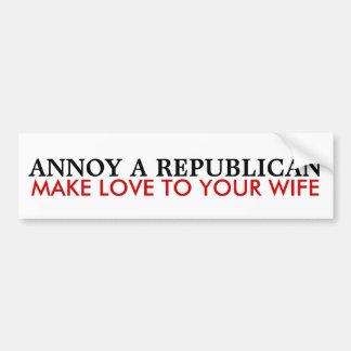 Cómo molestar a un republicano etiqueta de parachoque