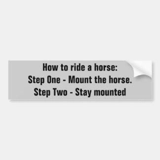 Cómo montar un caballo.   Remolque del caballo Pegatina Para Auto