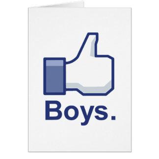 Como muchachos felicitacion