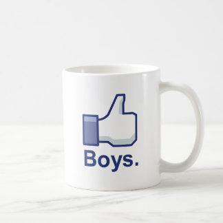Como muchachos tazas de café