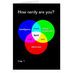 ¿Cómo nerdy es usted? tarjeta