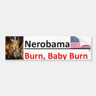 Como Nero, Obama es aman@o/golfing pues los Pegatina Para Coche