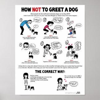 """Cómo no saludar un perro (11"""" x 14"""") Niño-Amistoso Póster"""
