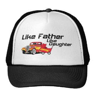 Como padre tenga gusto del coche de carreras de la gorras
