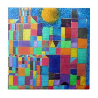 Como Paul Klee Azulejo Cuadrado Pequeño