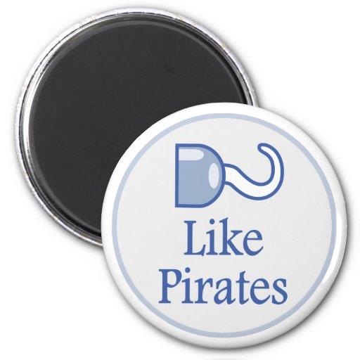 Como piratas iman de frigorífico