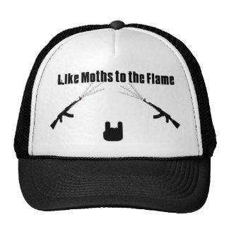 Como polillas al gorra del camionero de la llama