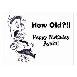 Cómo postal vieja del cumpleaños