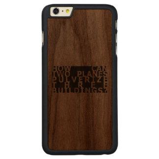 Cómo pueda… 9/11 funda de nogal carved® para iPhone 6 plus slim
