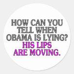 ¿Cómo puede usted decir cuándo está mintiendo Obam Etiquetas