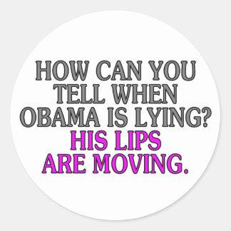 ¿Cómo puede usted decir cuándo está mintiendo Etiquetas Redondas