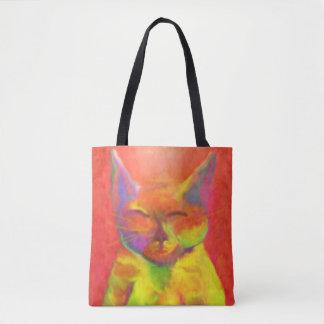 ¿Cómo puede usted servirme? Arte del gato Bolsa De Tela