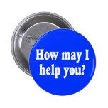 ¿Cómo puedo ayudarle? botón Pin